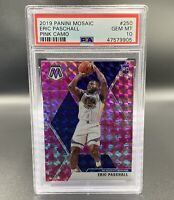 Eric Paschall *PSA 10* RC 2019 Pink Camo Panini Mosaic #250 Warriors NBA