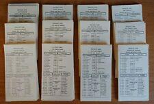 Vintage 1985 Strat-O-Matic Football Cards Set 12 Teams w/Marino & Walter Payton+
