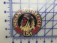 Vintage Indian Motorcycle USA Logo Vinyl Decal
