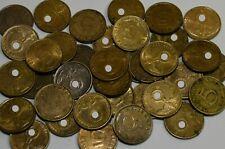 Drittes Reich 35 x 5 Reichspfennig Messing Münzen Lot Third Reich Lagerauflösung