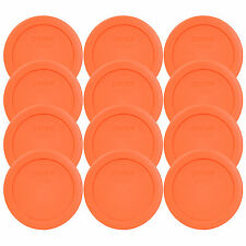 PYREX 7200-pc Round 2 Cup Storage Lid for Glass Bowls 6 Orange