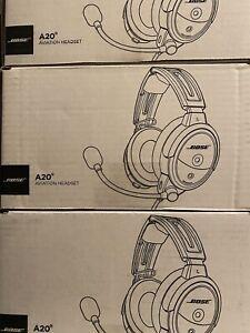BRAND NEW Bose A20 Aviation Headset - Straight Chord - Twin Plug (Dual GA)