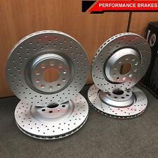FOR AUDI S3 VW GOLF GTI 2.0 R MK7 FRONT REAR DRILLED PERFORMANCE BRAKE DISCS KIN