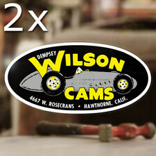 2x Stück Dempsey Wilson Cams Aufkleber Sticker Hot Rod Rat V8 Old School 427