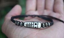 BRACCIALE Maschera Tribale LEGNO regolabile HAWAII Collection 2018 MAUI unisex