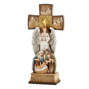 Holy Family Holy Cross Nativity Resin