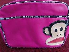 PAUL FRANK PINK SHOULDER BAG WITH JULIUS MONKEY DESIGN.  FAST POST