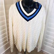 Polo Golf Ralph Lauren Cable Knit Tennis Cricket Sweater - Men's M - NWT $228.00