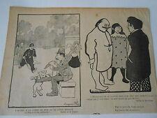 L'homme à la Jambe de bois et le Chien enragé B. Rabier Humour image print 1900