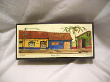 Vintage Wood Decorative Trinket Box with Street Picture by Tito
