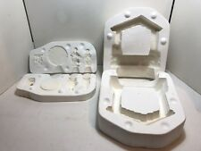 VTG Ceramic slip cast mold Music Box NATIVITY in Manger Gold Rush Doc Holliday
