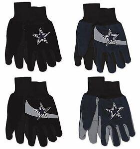 NFL Dallas Cowboys No Slip Gripper Utility Work Gardening Gloves NEW!