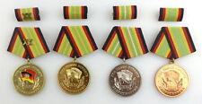 4 Medaillen treue Dienste Grenztruppen Gold 20, 15 Jahre, Silber Bron, Orden3140