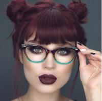 "Cat Eye Demi ""BABY BAN"" Ombre BAMBI Crystal Clear  Eyeglasses Shadz GAFAS"