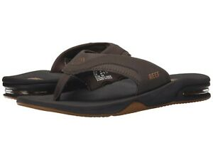 Man Reef Fanning Flip Flop Sandal RF2026 With Arch Support Brown/Gum Brand New