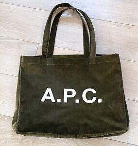 APC/A.P.C *sold out* khaki green Diane Corduroy tote bag Unisex