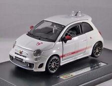 2011 FIAT ABARTH 500 ESSEESSE in White - 1/24 scale model by Burago