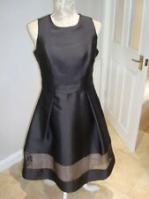 Ex COAST Black Party Prom Cocktail Occasion Dress Size 12 Cut Out Bow Back NEW