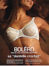 PUBLICITE  1970   BOLERO soutien gorge dentelle crochet