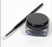 Women's Black Waterproof Gel Cream Eye Liner Liquid Eyeliner Shadow + Brush Set