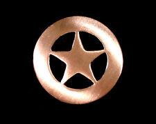 "Western Decor Copper Ranger Star (6) 3/4"" Conchos"