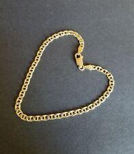 14k Solid Yellow Gold Mariner Link Bracelet 7 inch (3.6 grams)
