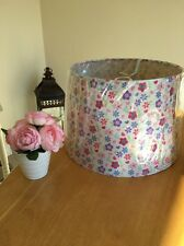 Girls Childrens Bedroom Pink White Floral Light Shade