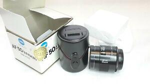 Excellent MINOLTA AF 50mm F/2.8 Macro in box with case