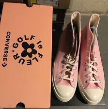 DS Converse X Golf Le Fleur Chenille Chuck 70 Almond Pink Tyler 167478C sz 11.5