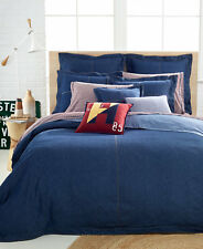 NEW Tommy Hilfiger Bedding TWIN Denim Duvet Cover Navy Blue $170 F311