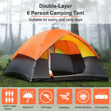 Family Camping Tent  6 Person Dome Canvas Swag Hiking Beach Tents Waterproof