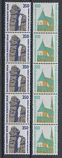 Berlin 834-835 AR ** Sehenswürdigkeiten 1989 Fünferstreifen Rollenmarke