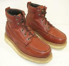 Wolverine Mens 10 W lace Up Wedge Moc Soft Toe Work Boots