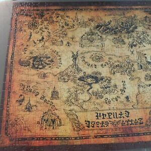 Legend of Zelda Collector's Edition Puzzle Hyrule Map 550 Pieces 18x24 USAopoly