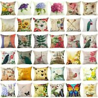 Throw Case Cover Pillow Floral Decor Couch Pillow Home Sofa Flower Cushion Cover