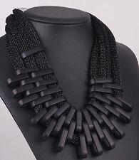 Hot Fashion Woman Black geometr chain  Bib Statement Chunky Pendant Necklaces