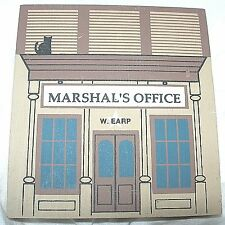 Marshal's Office Wyatt Earp Wild West Signed 1989 Series Wooden Cats Meow Htf