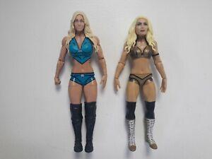 WWE MATTEL BASIC MANDY ROSE SERIES 92 & CHARLOTTE FLAIR  71 WRESTLING FIGURES