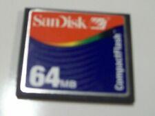 SanDisk 64mb Compact Flash Card Camera Memory Card SDCFB
