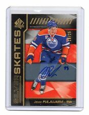 2016-17 UD SP AUTHENTIC SILVER SKATES GOLD SPECTRUM AUTO JESSE PULJUJARVI /25