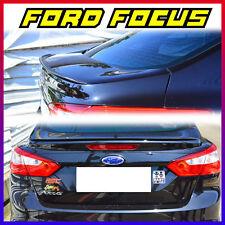 12-15 Unpainted FORD Focus 3rd Sedan Rear Trunk Lip Spoiler Wing ◣
