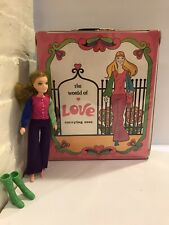 Vintage 1971 Hasbro Doll The World of Love Carrying Case HTF w/doll