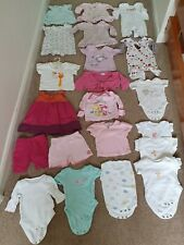 Baby girl Newborn clothes bundle up 1 month 10lbs 28 items summer