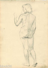 STANDING NUDE drawing 2 by Russian artist S. Pichugin (page from the album)