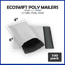 100 4x6 Ecoswift Poly Mailers Plastic Envelopes Shipping Mailing Bags 17mil