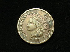 SUMMER SALE!! XF 1880 INDIAN HEAD CENT PENNY w/ DIAMONDS & FULL LIBERTY #128s