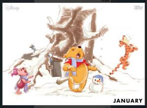 Topps' Disney Collect Seasons Of The Hundred Acre Wood January 2020 VIP (1 Card)