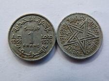 Pièce monnaie MAROC MORROCO 1 francs 1951 état voir scan