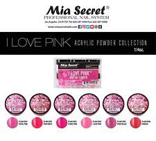 Mia Secret I LOVE PINK Nail Art Powder 1 Color OR All 6 Colors