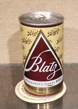 Bottom Open 1970 Blatz Pull Tab Beer Can Heileman 5 City Usbc 43-17 Dull